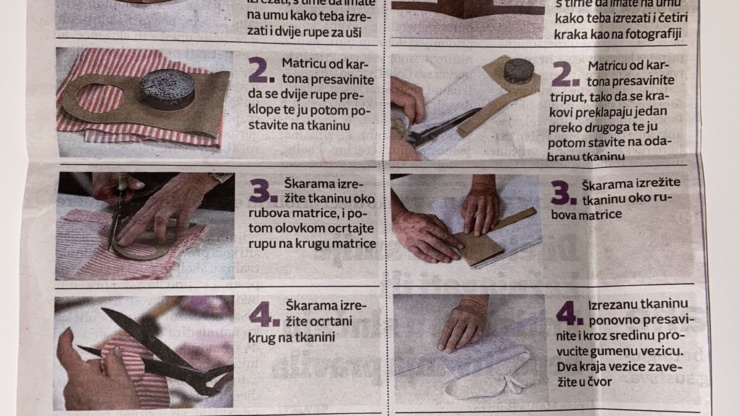 Izradite pamučnu masku u 5 koraka bez šivaće mašine